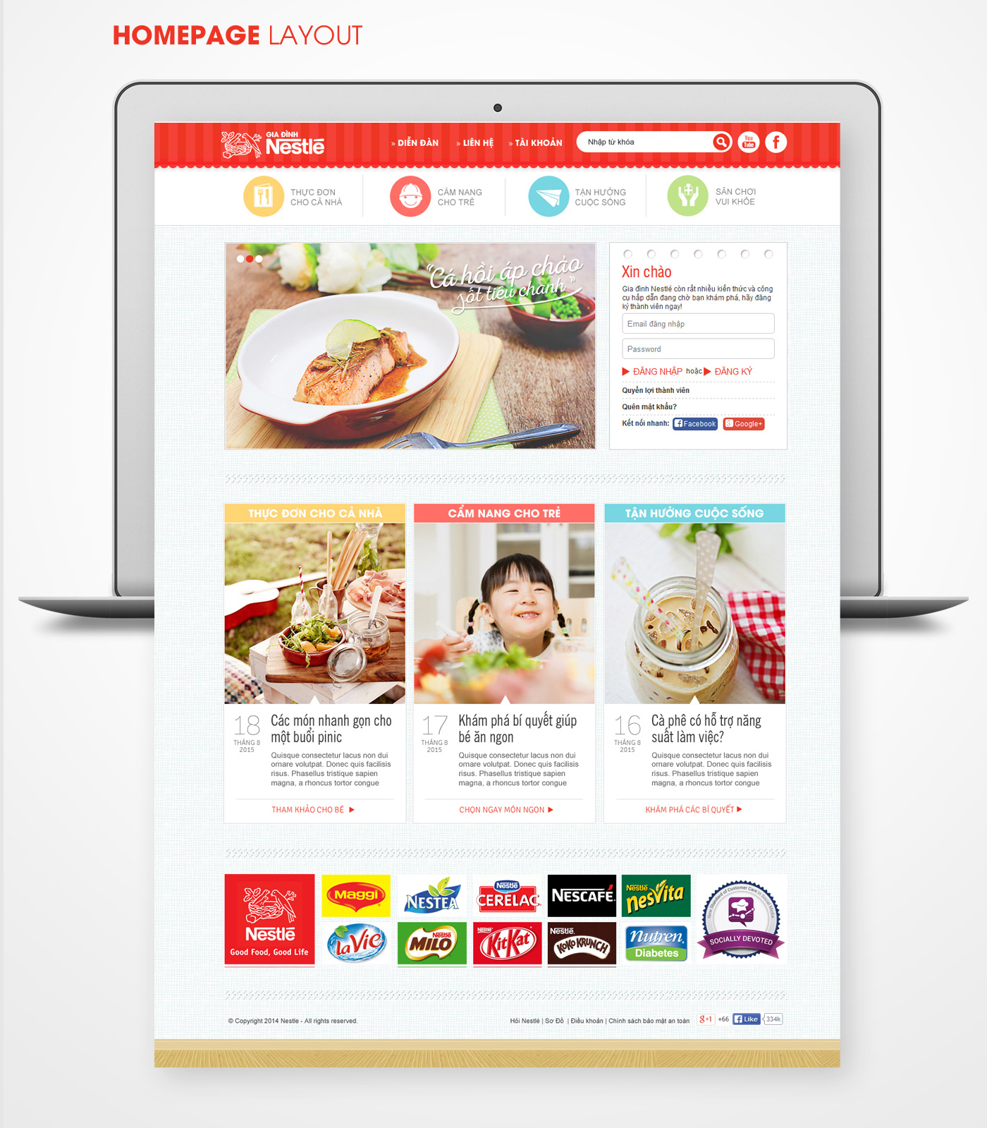 Nestlé Family Vietnam Website