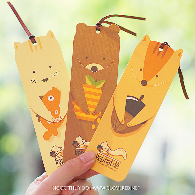 Kẹt Hạt Dẻ - Bookmark with 3 characters
