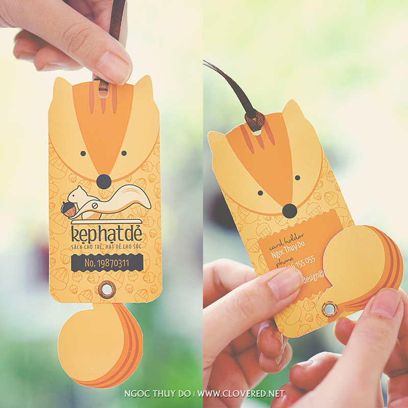 Kẹt Hạt Dẻ - Member card with movable tail